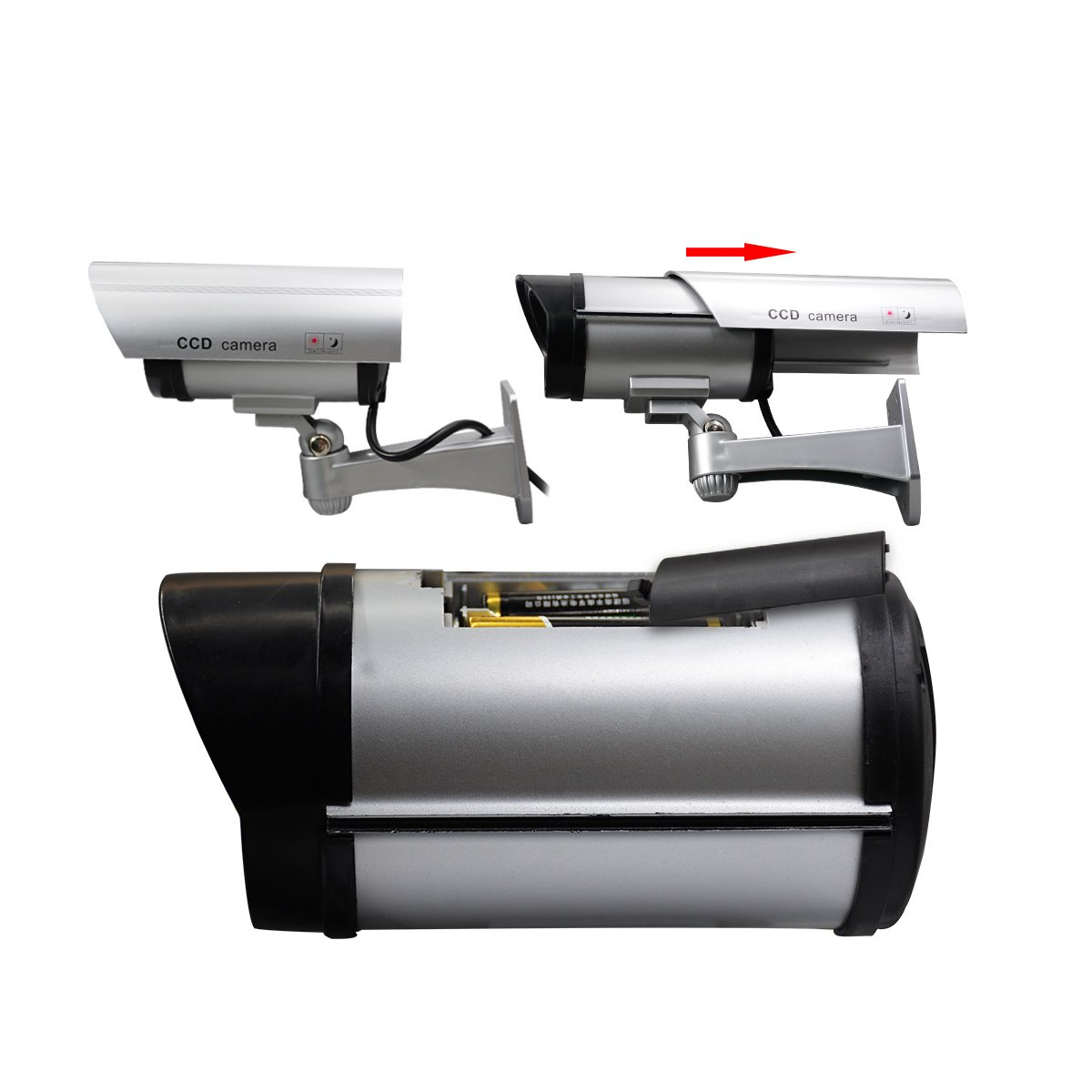 JOOAN CCTV Security Fake//Dummy Camera Outdoor Bullet Camera with 30 Units Illuminating LEDs