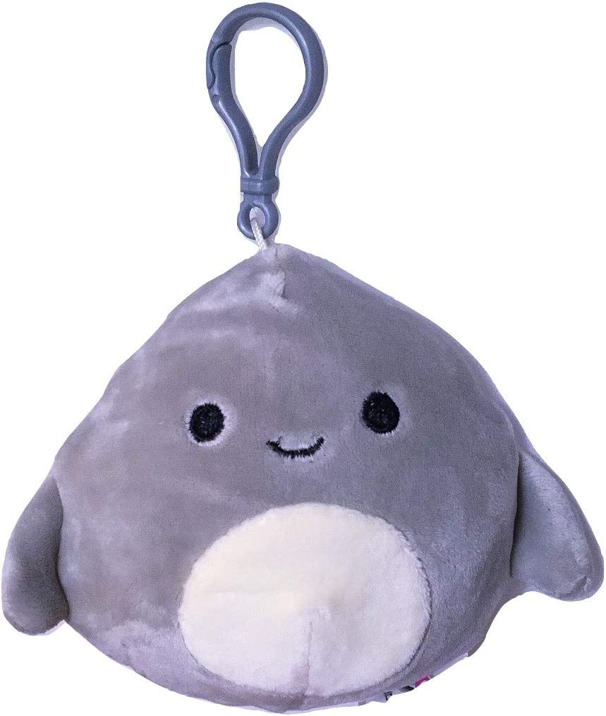 Squishmallow Kellytoy Sea Life 3.5 Inch Clip-On Gordon The Shark- Super Soft Plush Toy Pillow Pet Animal Pillow Pal Buddy Stuffed Animal Birthday Gift Holiday