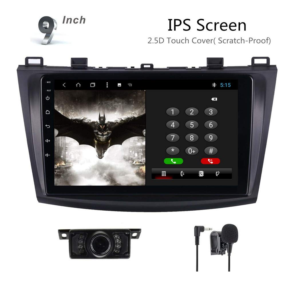 Brogotek Android 7.1 Car Stereo Head Unit for Mazda 3 2010-2014 Car Radio GPS Navi Navigation 9 Inch IPS Panel Touch Screen Bluetooth Radio SWC 4G WiFi CAM-in Mazida 3 T3 Xin