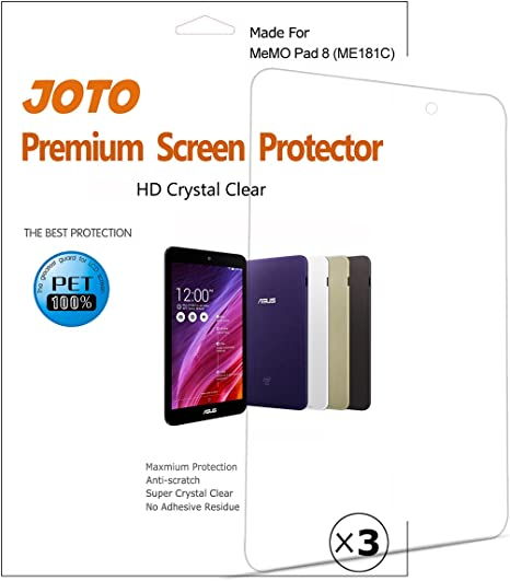 """3 Pack Clear Tablet Screen Protector Guard For 8/"""" ASUS MeMO Pad 8 ME180A"""