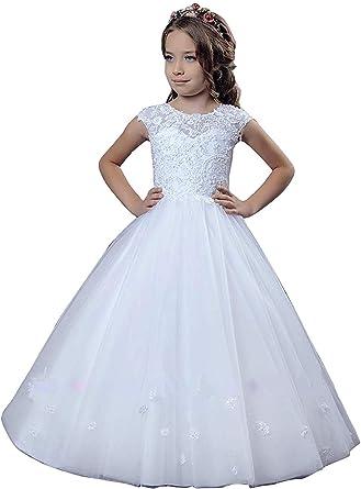 Girls Flower Bridesmaid Party Princess Prom Wedding Christening Communion Dress