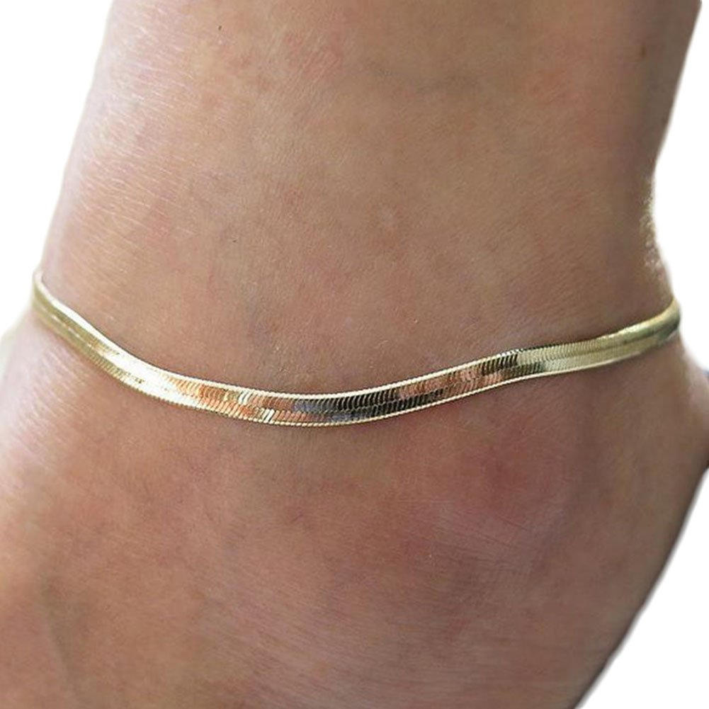 Cdet Anklets Chain Unisex Ankle Bracelet Barefoot Girl Foot Ring Jewelry Accessories Love Gift Gold