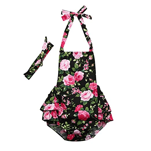 e3f039826 Amazon.com  DIGOOD Toddler Baby Girls Summer Floral Fruit Print ...