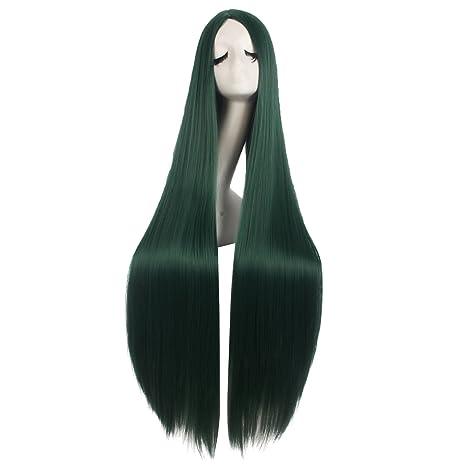 Mapofbeauty 40 Pulgadas/100cm Largo Suave Como La Seda Peluca Disfraz de Anime(Pino