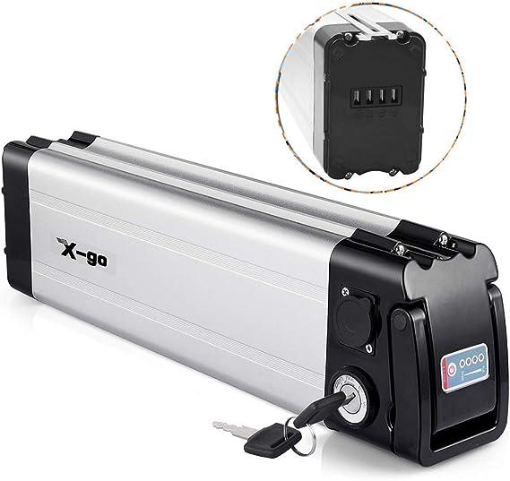 X-go Ebike Battery 48V/36V/24V 15AH/12Ah/10AH Lithium Li-ion Battery E-Bike Discharge Electric Bicycles(Down Discharge)