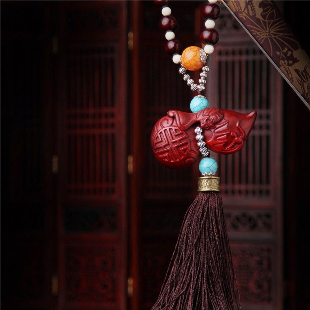 D DOLITY Pendentif Voiture Bouddhisme Ornements Sculpt/é Signification S/écurit/é Richesse Chinois # 1