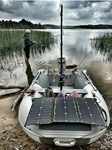 GOWE SUNPOWER 75 Watt 36V Flexible Folding Solar Panel Frameless Fabric Portable Solar Charger for Electric Marine Engine Torqeedo