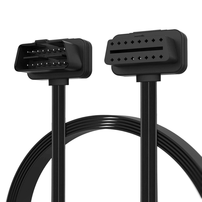 Launch OBD 2 Cord 16 pin M/F Male to Female Right Angle Diagnostic Extension Cable