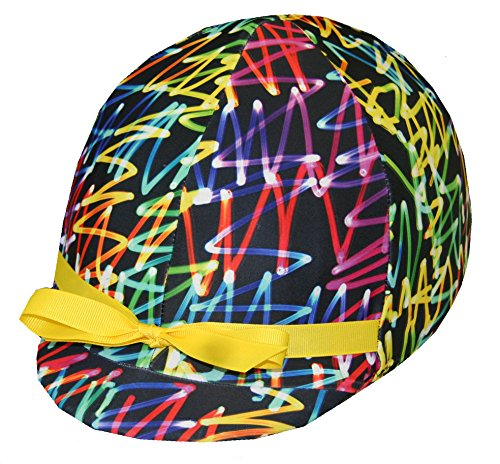 Equestrian Riding Helmet Cover - Neon Lights