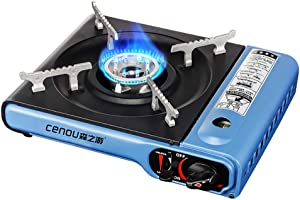 Huanxin Portable Butane Gas Stove, Butane Stove Fuel, 2.9KW High Power Easy to Clean for Camping Hiking Barbecue Travel