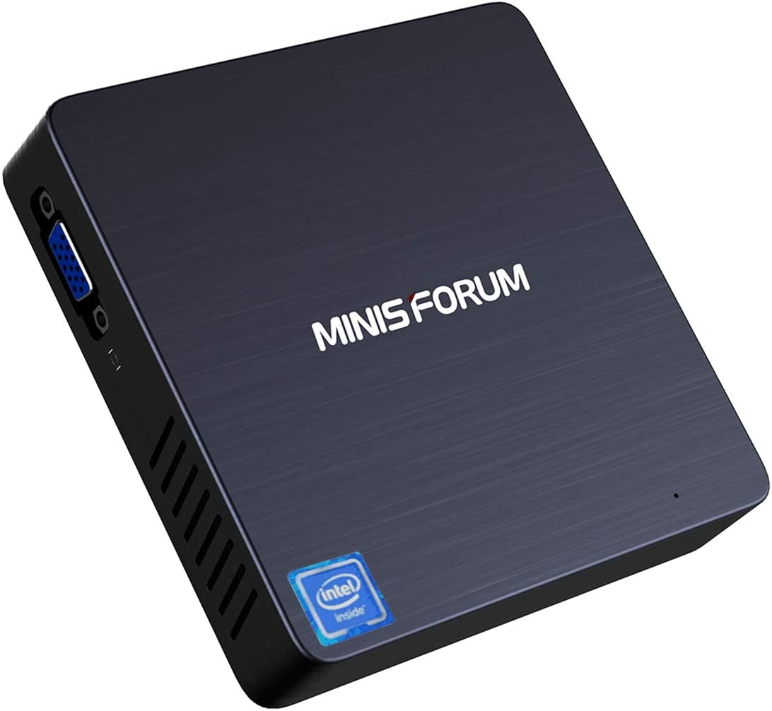 【New Version】 Mini PC Intel Celeron N3350(up to 2.4GHz) 4GB DDR4/ 64GB eMMC, Windows 10 Pro(64-bit) Fanless PC Mini, 2.4G/5G Dual WiFi, 4K HD, HDMI/VGA Ports, Gigabit Ethernet, BT 4.2, 3X USB3.0 61euiMbyFBLSL1500_