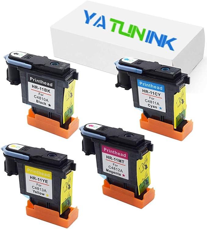 yatunink Set para non-OEM HP11 C4810 a-c4813 a cabezal Cabezal de ...