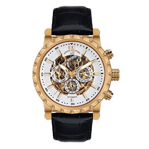André Belfort Reloj automático Man Conquête Negro 43 mm: Amazon.es: Relojes