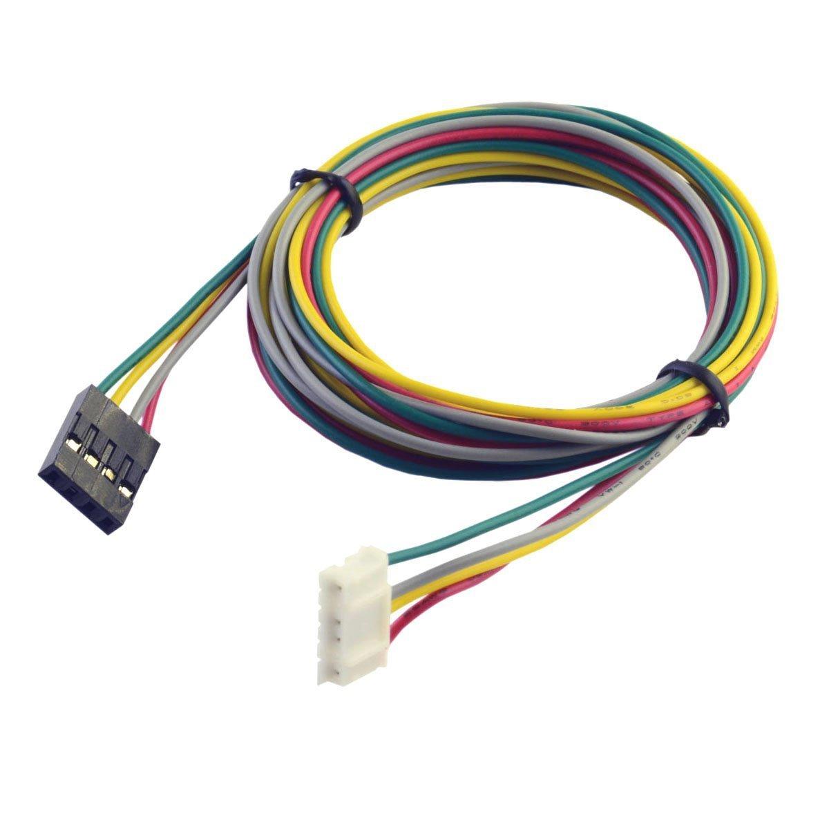 UEETEK 4 PCS 1M Stepper Motor Cables 4Pin for NEMA 17 Used in Reprap 3D Printers CNC Machines