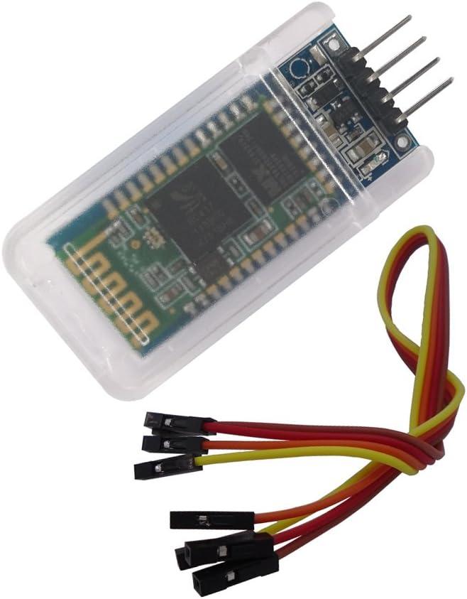 DSD TECH HC-06 Módulo de soporte de transceptor serial inalámbrico Bluetooth Modo esclavo y maestro para Arduino + 4PIN Dupont Cable