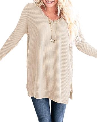 YOINS Women Long Sleeve V Neck Shirts
