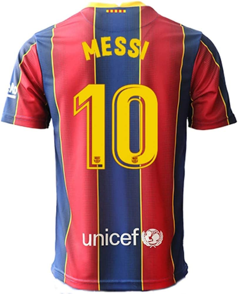 Barcelona 2020 2021 No 10 Messi Men S Football Shirt Jersey Amazon Co Uk Sports Outdoors