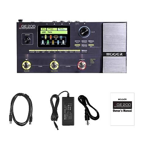 Muslady MOOER GE200 Modelado de amplificadores y efectos múltiples Pedal 55 26 Modelos de altavoces de