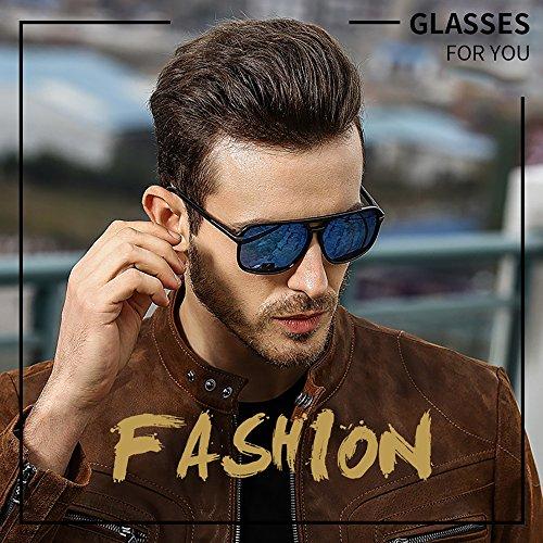 hombre Gafas Diseñador para Gafas Retro Aviator sol de moda vintage Gris de mujer 80 t8qqwU