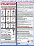 Globally Harmonized System Pictograms and Hazards (GHS) Poster - Laminated 24'' x 24''