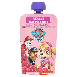 Pumpkin Tree Paw Patrol Really Raspberry Organic Mixed Fruit Squeeze Pouch, 3.5 Ounce, Pack of 10 (35 Ounce)