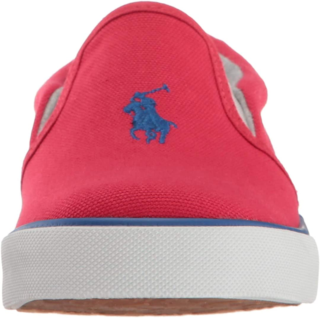 Polo Ralph Lauren Kids Boys Bal Harbour II Sneaker red Canvas Royal pop M125 M US Little Kid
