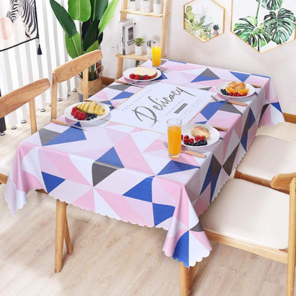 WJJYTX Wachstuch tischdecke, quadratische tischdecke klapptisch Abdeckung wasserdicht Polyester Baumwolle Land Garten für küchenmöbel Nordic @ 137 * 200