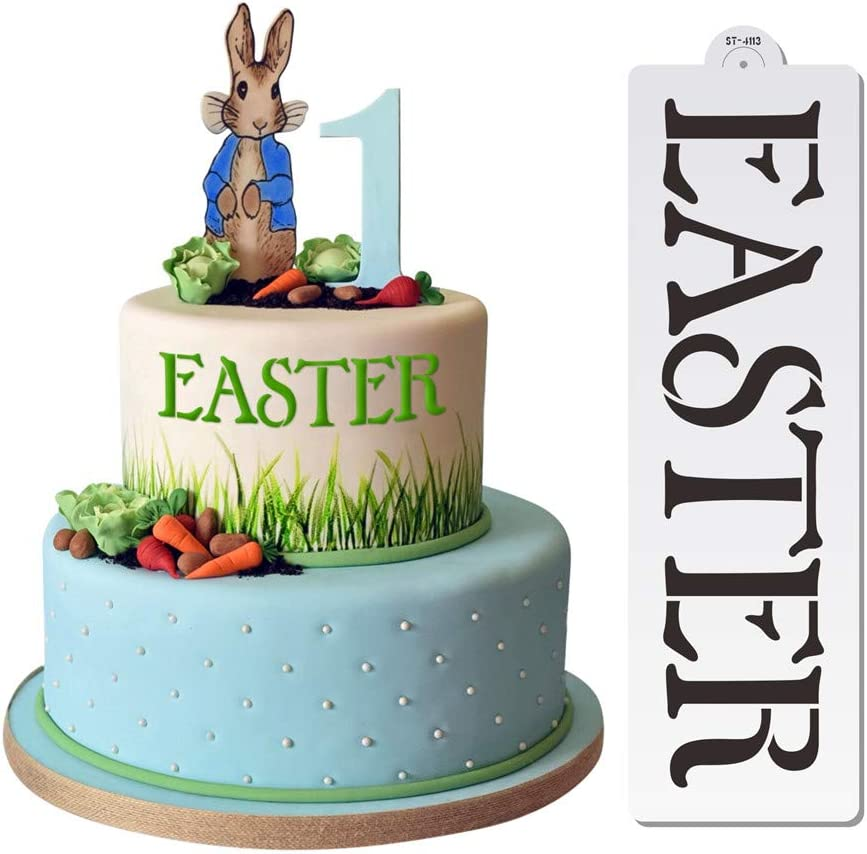 Art KITCHENWARE Easter Cake Stencils for Painting Cake Decorating Supplies Airbrush Stencil Bakery Tools