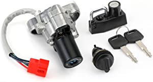 MAD HORNETS Ignition Switch Toolbox Lock Seat Lock Keys for Yamaha V-Star 650 1100 99-16