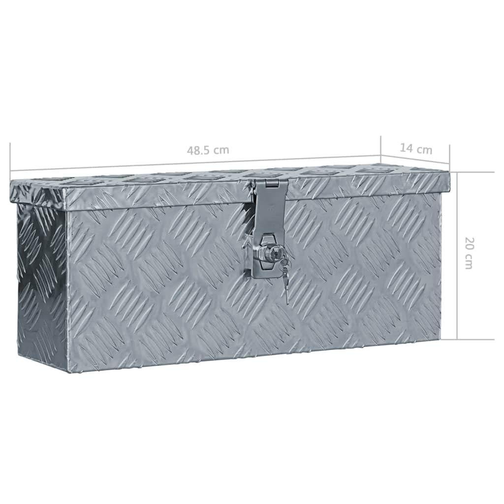 vidaXL Bo/îte en Aluminium Argent/é Chariot /à Outils Caisse /à Outils Atelier