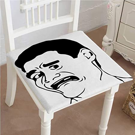 "Mikihome Cushion New Confused Man Meme with WTF Facial Gesture Caricature  Style Comics Graphic Art Black Indoor Garden Patio Home Kitchen Office Chair  Pads Seat Pads 32""x32""x2pcs: Amazon.co.uk: Kitchen & Home"