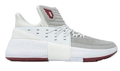 best website ad40b d9d9e Amazon.com  adidas Dame 3 NBANCAA Shoe - Mens Basketball 13  WhiteBurgundy  Basketball