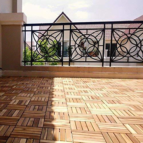 11x Terrassenfliesen Balkonfliesen Bodenfliesen Akazien-Holzfliesen 30 x 30 cm 1m/² 31,95/€//m/² leicht verlegbar ge/ölt
