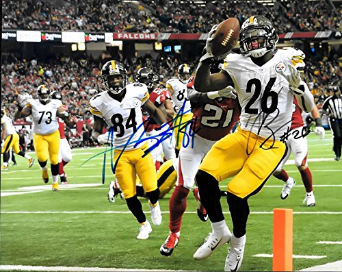 Bell Signed Photo (Antonio Brown & Le'Veon Bell Pittsburgh Steelers Autographed Signed 8 x 10 Photo - COA - Mint)
