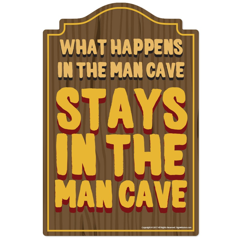 Amazon.com: What Happens In The Man Cave Novelty Sign   Indoor ...
