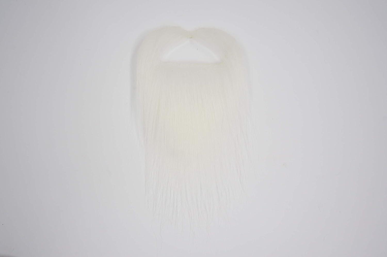 Ducktail Fausse Barbe Nouveaut/é Mustaches Auto-Adh/ésives Faux Cheveux Faciaux Blanche Couleur