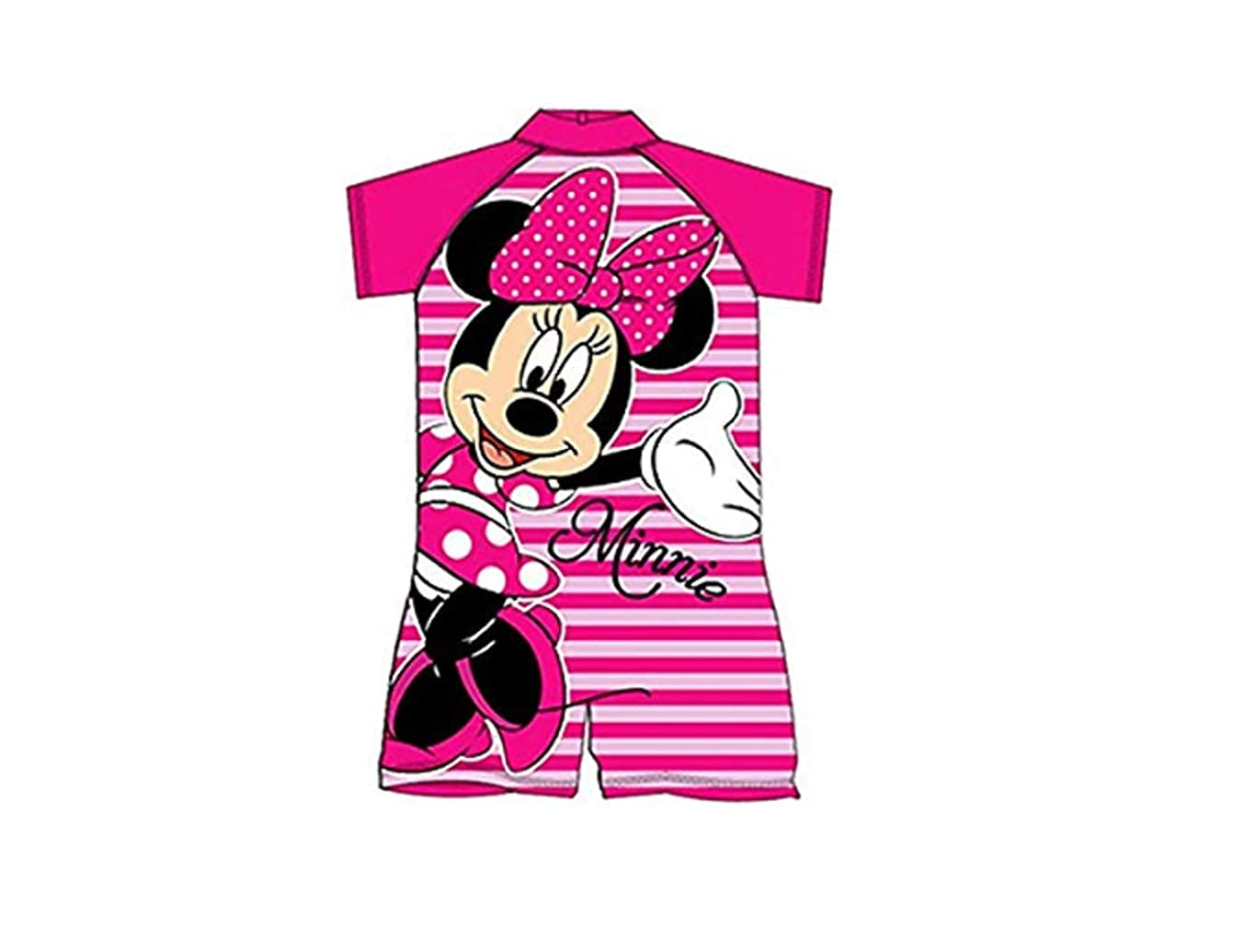 As Available Childrens/Kids Minnie Mouse Pink Stripe Surf Suit Boys/Girls Age 18 Months - 5 Years