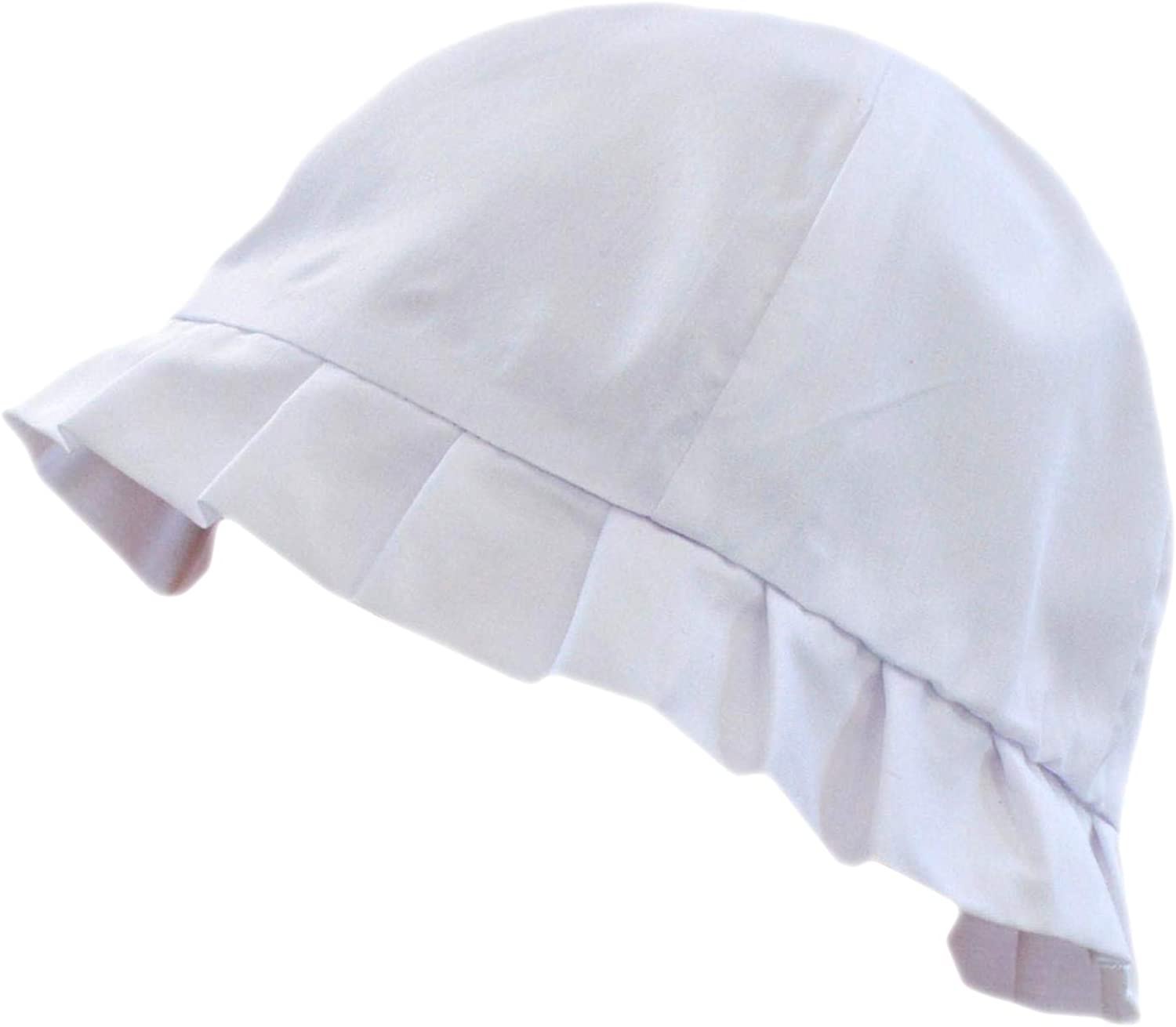 Baby Girls Sun Hat with Shiny Bow Summer Cotton Bucket Hats Boys Prince Embroidered Frilly Broderie Anglaise Bonnet Hat Tie Up Chin Strap 0-24 Months