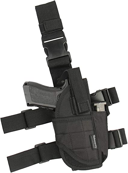 Universal Police Quick Tactical Right Hand Holster Magazine Pouch for Most Guns