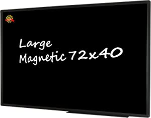 """72"""" x 40"""" Large Magnetic Chalkboard, Wall-Mounted Bulletin Blackboard, Aluminium Message Chalk Board for Office Home and School"""