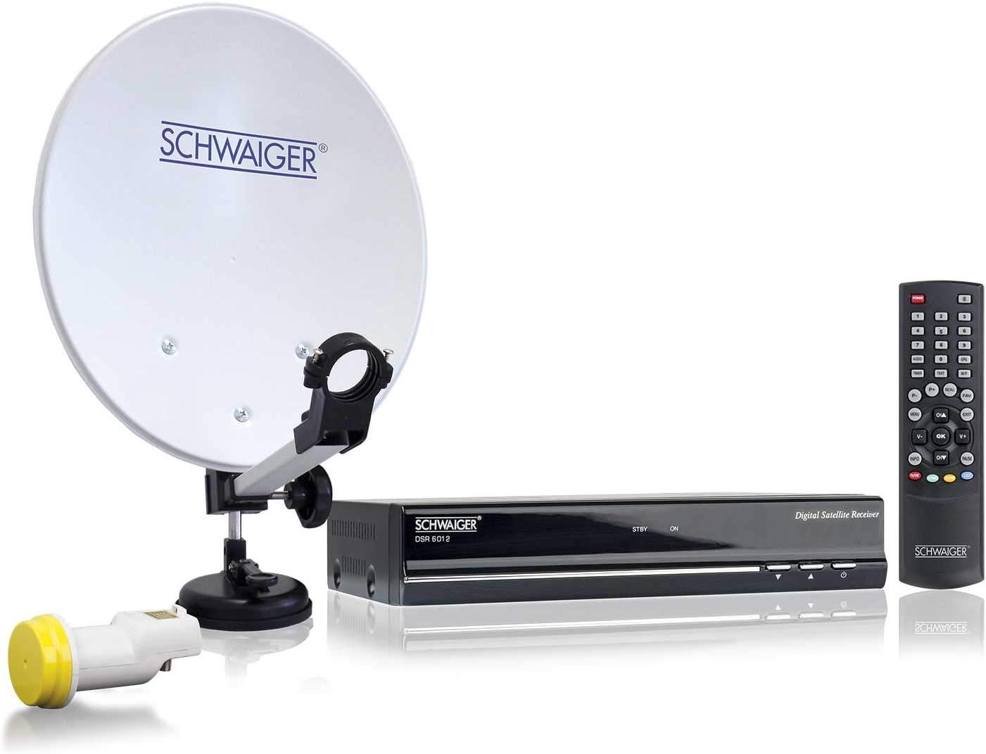 Instalación Schwaiger acampar portátil por satélite de ...