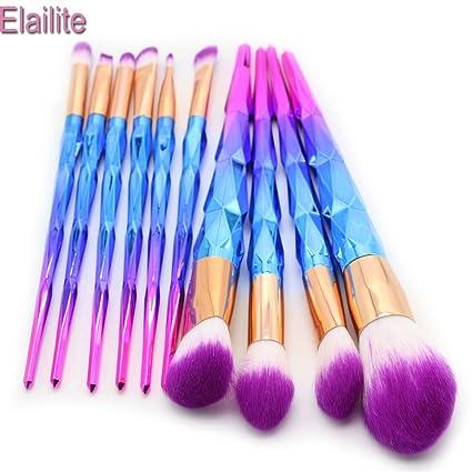 efd26f50ede6 Amazon.com: Laliva Unicorn Makeup Brushes Thread Rainbow ...