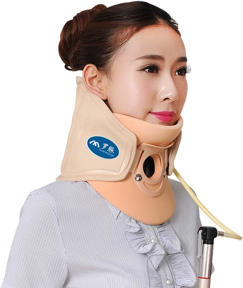 Wgwioo Medical Neck Cervical Traction Device Relief From Neck And Upper Back Pain Portable Home Use,Yellow