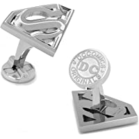 DC Comics Mancuernillas Superman Plateados Logotipo 3D
