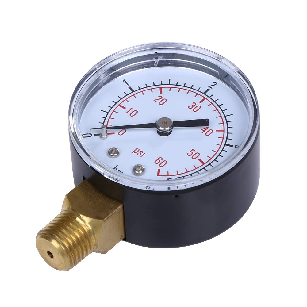 RanDal TS-50-4 Practical Pool Spa Filter Water Pressure Gauge Mini 0-60 PSI 0-4 Bar Side Mount 1//4 Inch Pipe Thread NPT TS-50