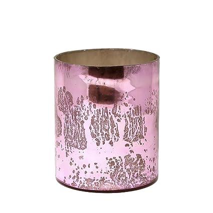 Amazon Large Antique Pink Glass Cylinder Vase Home Kitchen