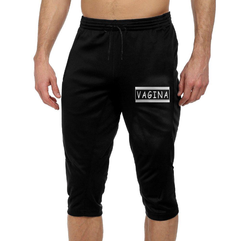 GYang VaginaMens' Seven-point Pants Casual Funny Printed Loose Shorts Leggings Trousers Joggers