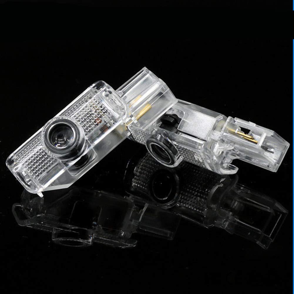 LIKECAR 4 st/ücke Auto Projektor T/ürlampe Geist Schatten Willkommen Licht Courtesy Logo
