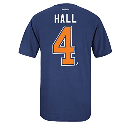 newest 994a8 c79f1 Amazon.com : Reebok Edmonton Oilers Taylor Hall Blue Name ...