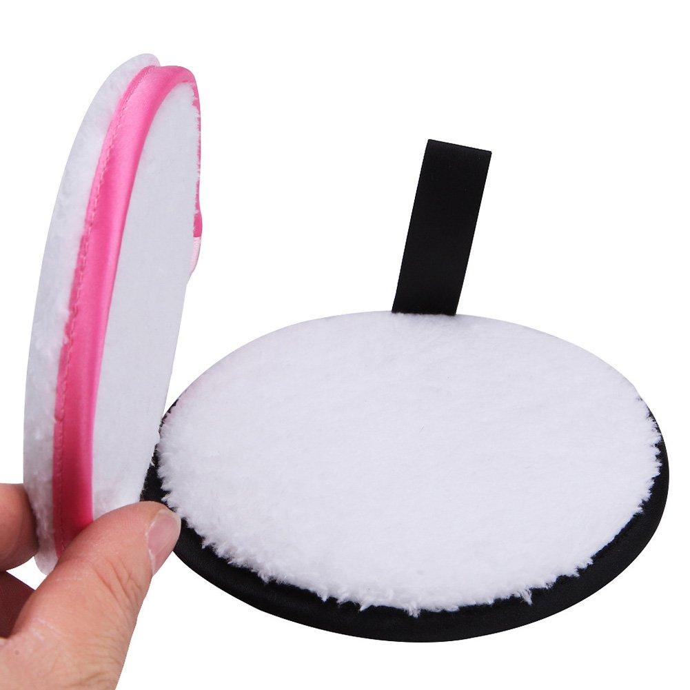 symboat 2 pcs/set microfibra Toallas de limpieza Desmaquillante suave lavable Facial Limpieza Toallas de peluche: Amazon.es: Belleza